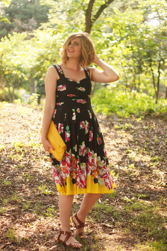 Black floral dress // We So Thrifty